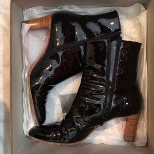 Christian Louboutin Patent Black Boots